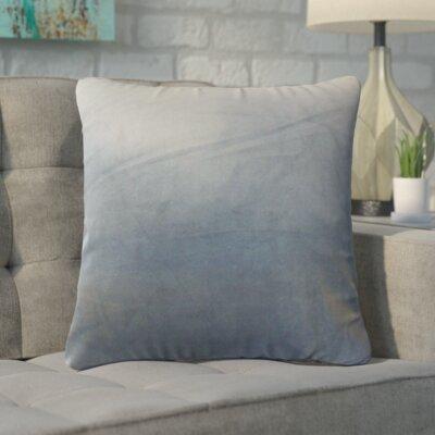 Markos Velvet Throw Pillow Color: Steel, Size: 20 x 20