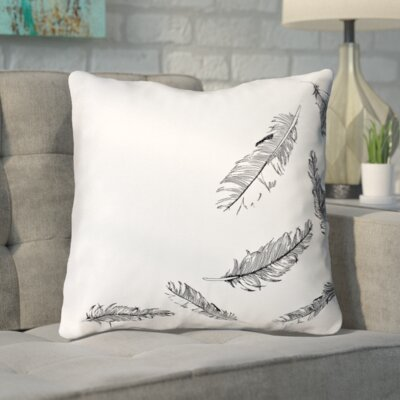 Bolds Cotton Feathers Decorative Throw Pillow
