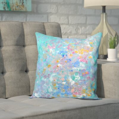 Blue Outdoor Throw Pillow Size: 16 H x 16 W x 2 D, Color: Teal