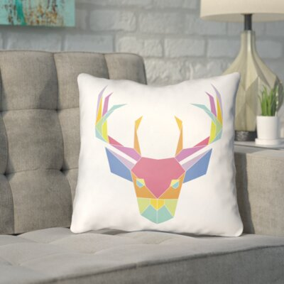 Naiara Chromatic Caribou Indoor/outdoor Throw Pillow Size: 16 H x 16 W x 4 D