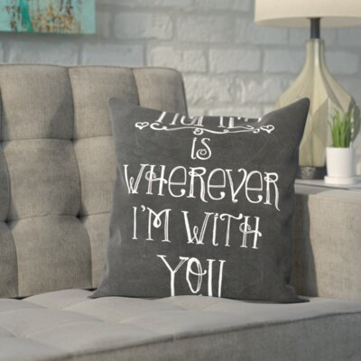 Black/White Throw Pillow Size: 20 H x 20 W x 2 D