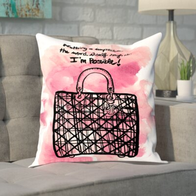 Brassell Nothing is Impossible Throw Pillow