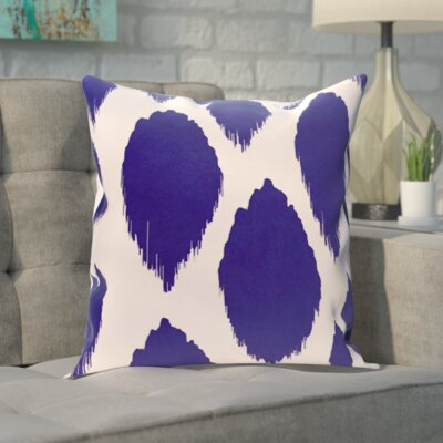 Blackwood Outdoor Throw pillow Color: Dazzling Blue, Size: 20 H x 20 W x 1 D