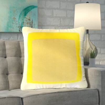 Vasquez 100% Cotton Throw Pillow Cover Size: 22 H x 22 W x 1 D, Color: Yellow