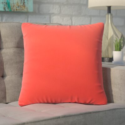 Ansley Solitaire Throw Pillow Color: Red