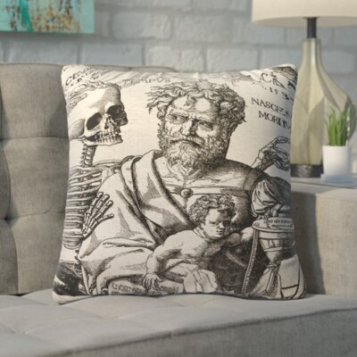 Lindy Skeleton Linen Throw Pillow