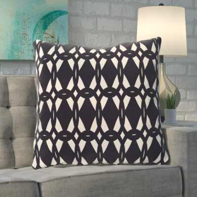 Boyles Geo-Craze Geometric Print Floor  Pillow Color: Navy Blue