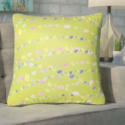 Bishopville Beads Indoor/Outdoor Throw Pillow Size: 18 H x 18 W x 4 D, Color: Green