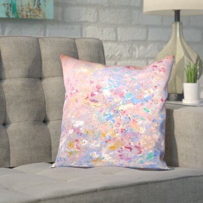Blue Outdoor Throw Pillow Size: 16 H x 16 W x 2 D, Color: Pink