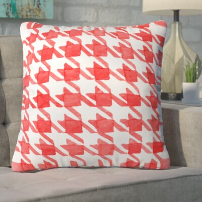 Rhoda Candy Houndstooth Throw Pillow Size: Large