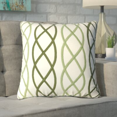 Boehm Cotton Throw Pillow Color: Green
