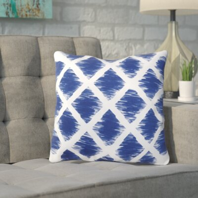 Numenius Outdoor Throw Pillow Size: 26 H x 26 W x 7 D, Color: Navy