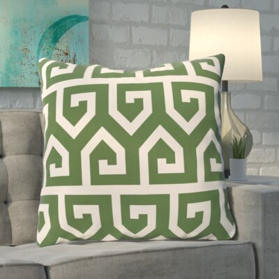 Boyer Keyed Up Geometric Print Floor  Pillow Color: Gray