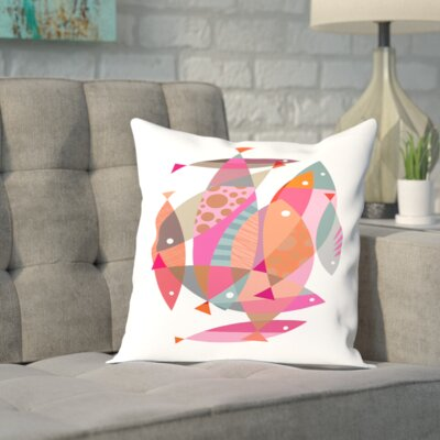 Brockway Fish Outdoor Throw Pillow Size: 18 H x 18 W x 2 D