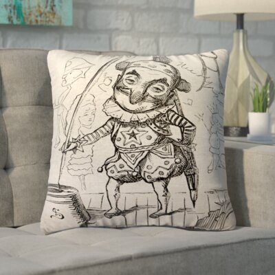 Biscoe Vintage Circus Linen Throw Pillow