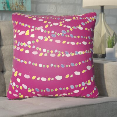 Bishopville Beads Indoor/Outdoor Throw Pillow Size: 18 H x 18 W x 4 D, Color: Pink