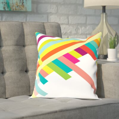 Eaves Spring Geometry Poster Outdoor Throw Pillow Size: 16 H x 16 W x 2 D