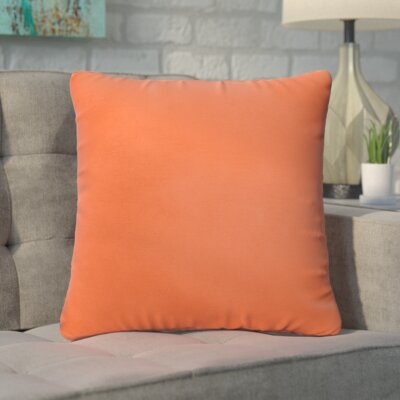Branan Square Knife Edge Indoor/Outdoor Throw Pillow Size: 22 H x 22 W x 6 D, Color: Mandarin Orange