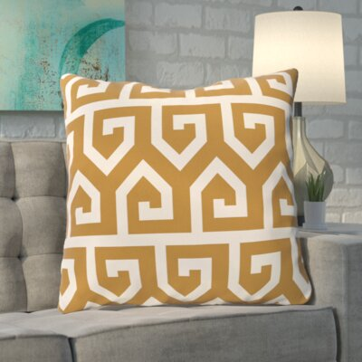 Boyer Keyed Up Geometric Print Floor  Pillow Color: Gold