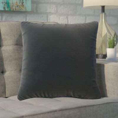 Ansley Solitaire Throw Pillow Color: Dark Gray