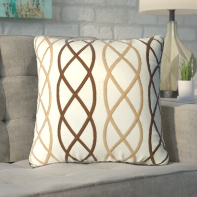 Boehm Cotton Throw Pillow Color: Beige