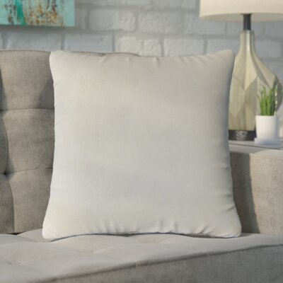 Markos Velvet Throw Pillow Color: Smoke, Size: 20 x 20
