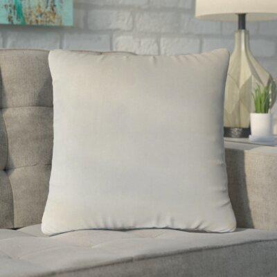 Markos Velvet Throw Pillow Color: Smoke, Size: 18 x 18