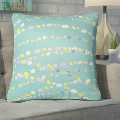 Bishopville Beads Indoor/Outdoor Throw Pillow Size: 18 H x 18 W x 4 D, Color: Neutral