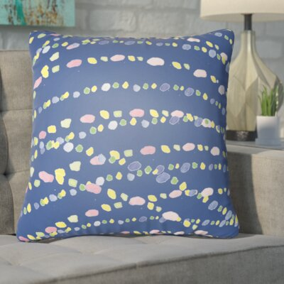 Bishopville Beads Indoor/Outdoor Throw Pillow Size: 18 H x 18 W x 4 D, Color: Blue