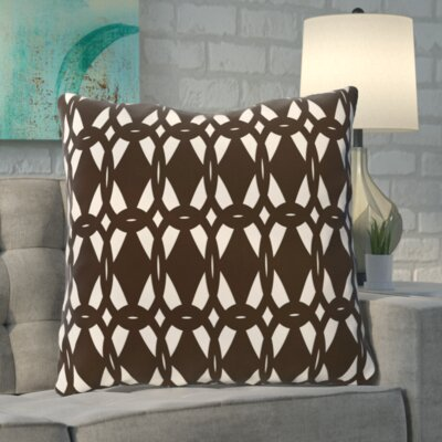 Aerin Geo-Craze Geometric Print Floor Pillow Color: Brown