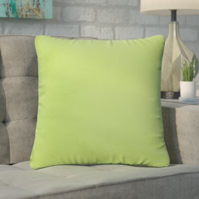 Branan Square Knife Edge Indoor/Outdoor Throw Pillow Size: 18 H x 18 W x 6 D, Color: Apple Green