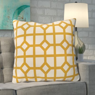 Kestner Don't Fret Geometric Print Floor Pillow Color: Gold