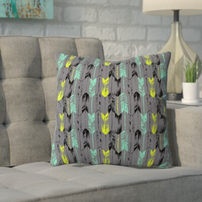 Bekasi State Arrow Line Spearmint Throw Pillow Size: 26 H x 26 W x 7 D