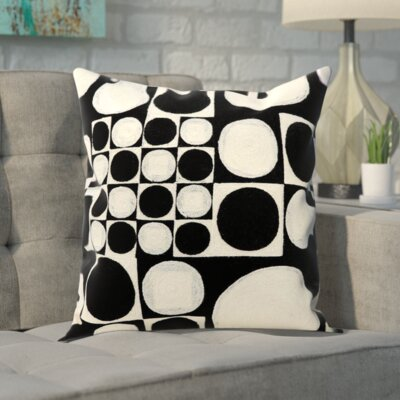 Carrera Modern Wool Throw Pillow