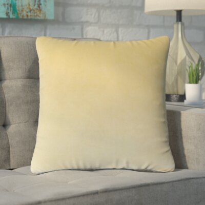 Markos Velvet Throw Pillow Color: Sand, Size: 20 x 20