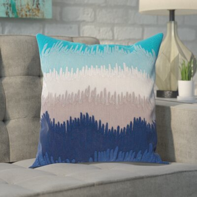 Kane Wool Throw Pillow Color: Navy/Gray/Blue