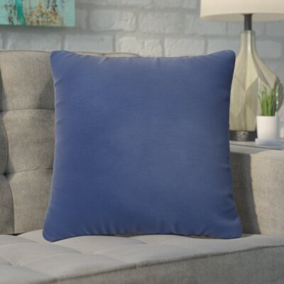 Branan Square Knife Edge Indoor/Outdoor Throw Pillow Size: 18 H x 18 W x 6 D, Color: Dark Blue