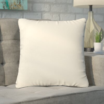 Branan Square Knife Edge Indoor/Outdoor Throw Pillow Size: 18 H x 18 W x 6 D, Color: Ivory