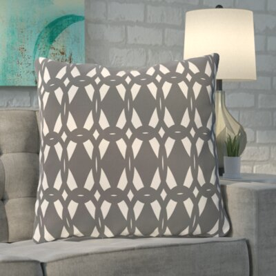 Boyles Geo-Craze Geometric Print Floor  Pillow Color: Gray