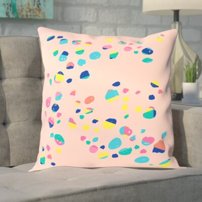 Bricktown Confetti Print Outdoor Throw Pillow Size: 16 H x 16 W x 2 D