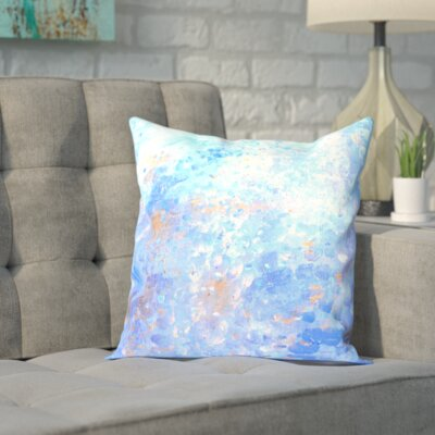 Blue Outdoor Throw Pillow Size: 18 H x 18 W x 2 D, Color: Blue