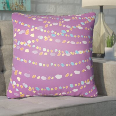 Bishopville Beads Indoor/Outdoor Throw Pillow Size: 20 H x 20 W x 4 D, Color: Purple