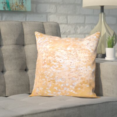 Brentry Outdoor Throw Pillow Size: 18 H x 18 W x 2 D, Color: Gold