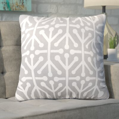 Nerys Indoor/Outdoor Throw Pillow Fabric: Gray, Size: Large