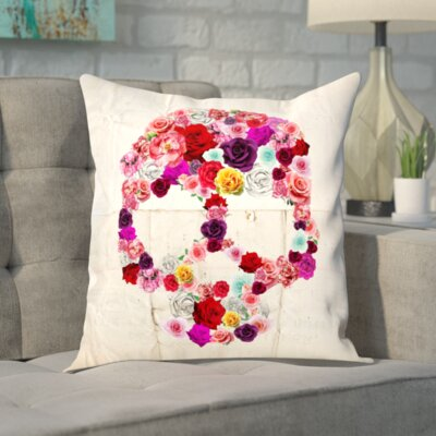 Pacifica Bed of Roses Throw Pillow