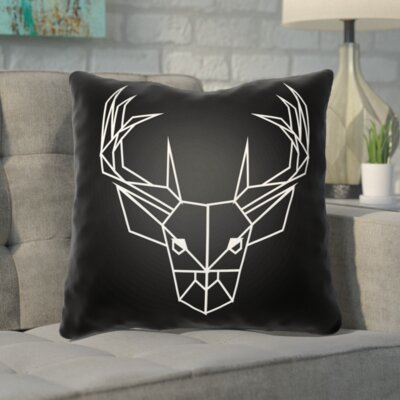 Noa Geometric Caribou Indoor/outdoor Throw Pillow Size: 18 H x 18 W x 4 D