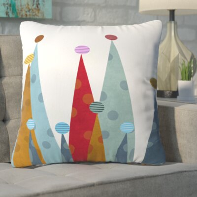 Winter Peaks Throw Pillow Size: Medium