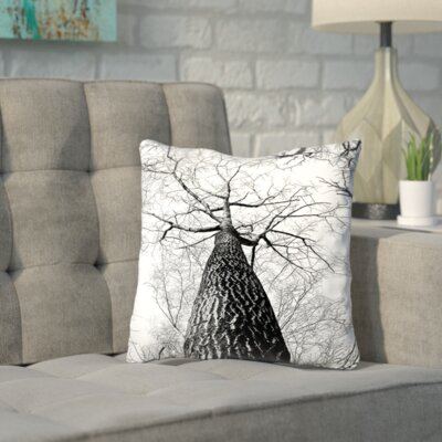 Nature Landscape Throw Pillow Size: 16 H x 16 W x 2 D
