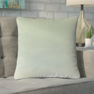 Markos Velvet Throw Pillow Color: Spa, Size: 18 x 18