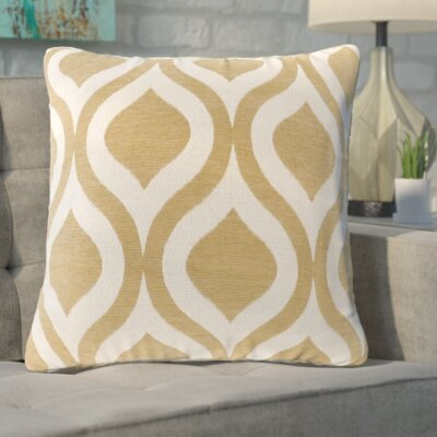 Olsen Chenille Throw Pillow Color: Yellow